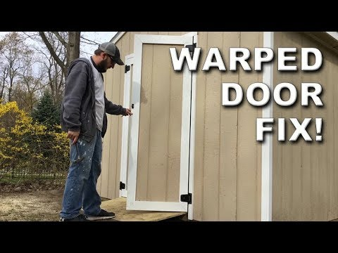 How To Fix A Warped Plywood Door Without Removing It Diy Hack Youtube