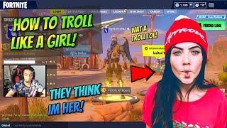 How To Voice Troll Like A Girl On Fortnite! (Real Girl Vs Fakee Gamer Girl!)
