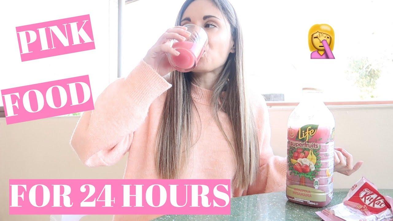Τρώω ΜΟΝΟ ροζ φαγητά για 24 ώρες!!! • Vickissme