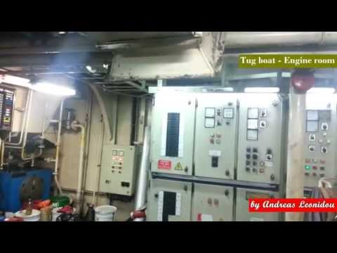 Tour in Tug Boat Engine room with Voith