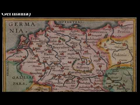 Maps of Germany (aka Germania) from 1588 to 1860