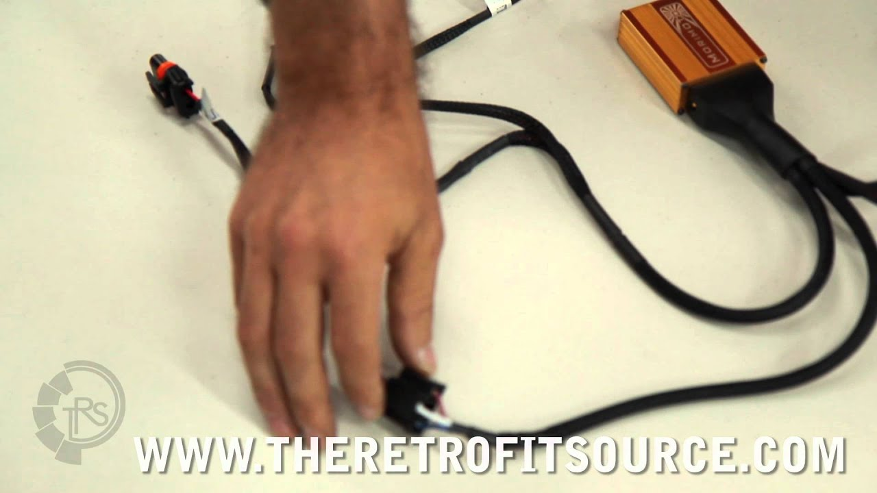 trs tech motocontrol bi xenon relay wire harness installation h4 9007 h13  [ 1280 x 720 Pixel ]