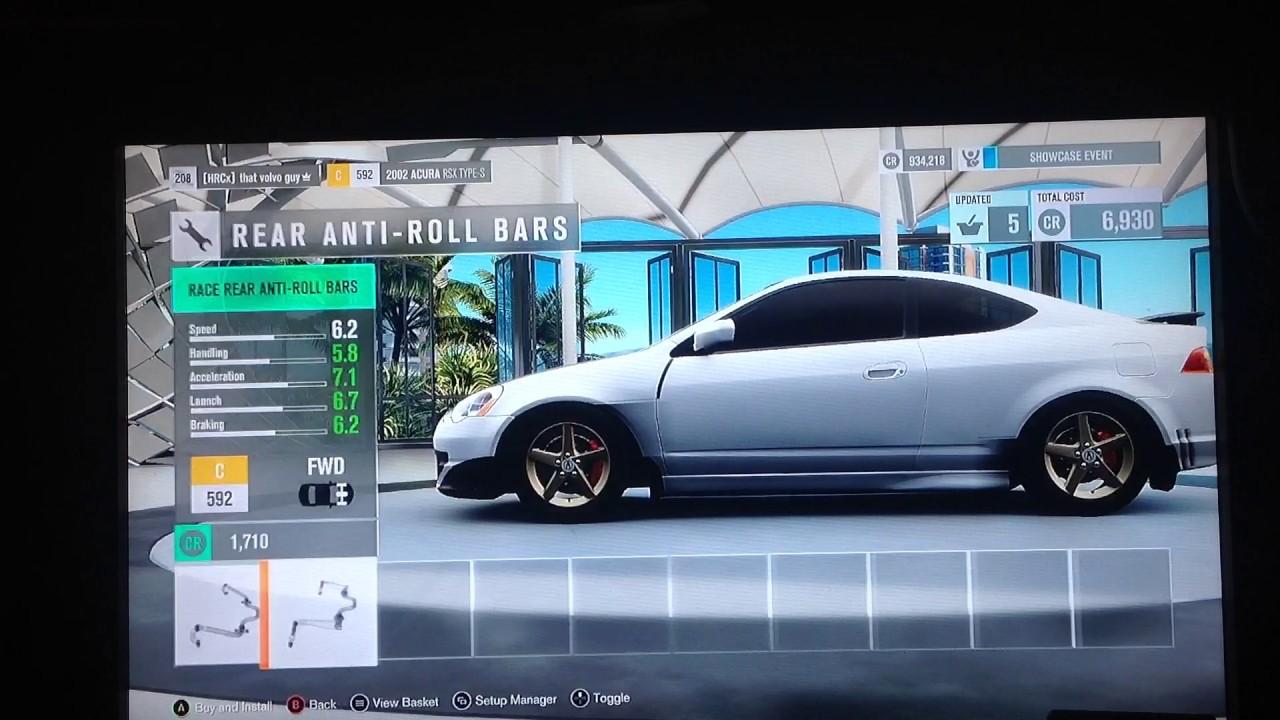 forza horizon 3 2002 acura rsx type s car drag review youtube