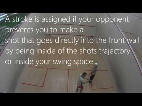 Let & Stroke - Squash Rules - Squash tips