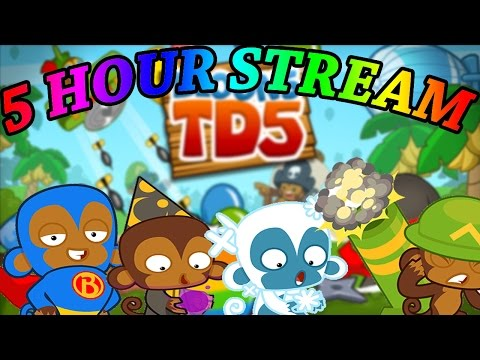 5 HOUR MEGA STREAM! - Bloons TD Battles challenges, craziness and more!