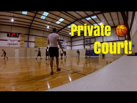 Our own private indoor basketball court youtube for Personal basketball court