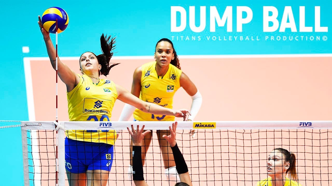 TOP 30 Volleyball Dump Ball points (Volleyball Tips) Volleyball Attack | Women's VNL 2018