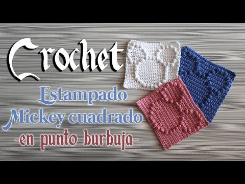 🔵 Crochet MICKEY MOUSE GRANNY Tutorial Con PUNTO PUFF