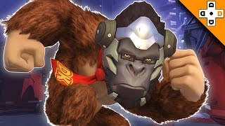 Overwatch Funny & Epic Moments 108 - WINSTON KONG ADVENTURES! - Highlights Montage