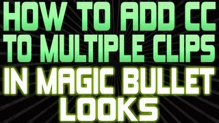 How To Add Color Correction To Multiple Clips In Magic Bullet Looks for Sony Vegas Pro 12