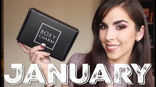 Boxycharm Unboxing & Review | Tatcha, Bite Beauty, Tarte, Briogeo | January 2019 | Katie Marie