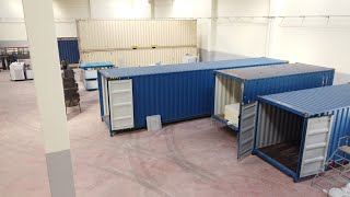 Ice machine with containerized type ice storage