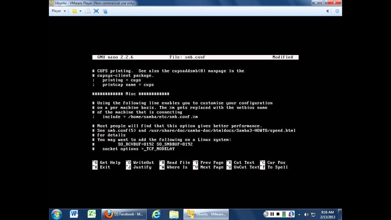 Installing and configuring SAMBA in Ubuntu Linux 12 10 Server