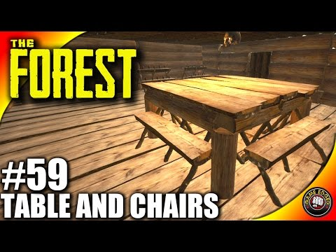 The Forest Gameplay - Tables and Chairs Tutorial - Let's Play S16EP59 (Alpha V0.39)