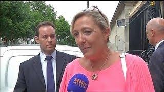 Marine Le Pen reçue par Laurent Fabius - 24/07