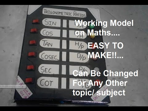 Working Model on Maths EASY TO MAKE!