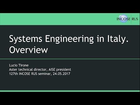 Системная инженерия в Италии. Обзор / Systems Engineering in Italy. Overview