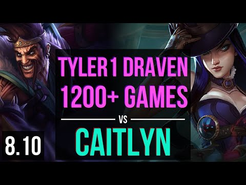 tyler1 DRAVEN vs CAITLYN (ADC) ~ 1200+ games, Rampage, KDA 14/5/11 ~ NA Master ~ Patch 8.10