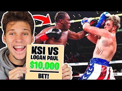 So I Tried Betting $10,000 On KSI Vs Logan Paul Fight...