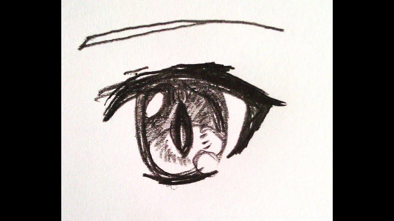 Drawing Anime Eye: Cateye Version nj 目(釣り目)をアニメ風