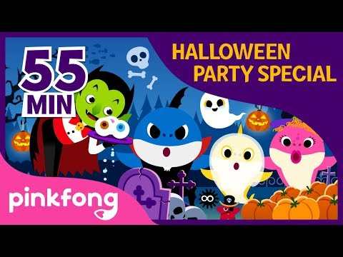 halloween-sharks-and-more-|-+compilation-|-halloween-playlist-|-pinkfong-halloween-songs