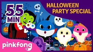 Halloween Sharks and more | +Compilation | Halloween Playlist | Pinkfong Halloween Songs