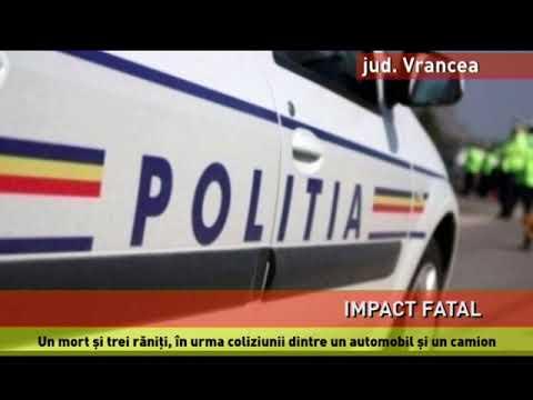 Un mort și trei răniți, într-un grav accident produs în Vrancea