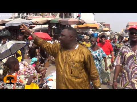 Abass KABOUA fait le tour d'Assigamé (Grand Marché de Lomé) pour mobiliser les femmes[10/1/14]