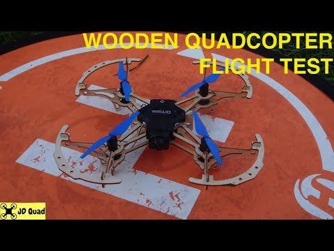 XMR / C M2 DIY Wood Quadcopter Flight Test Video