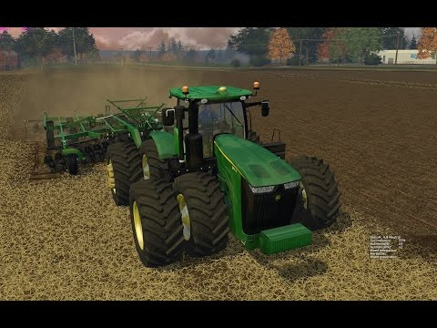 Farming Simulator 2015:  John Deere 9560RT & 2720 Disk Ripper Soil Management