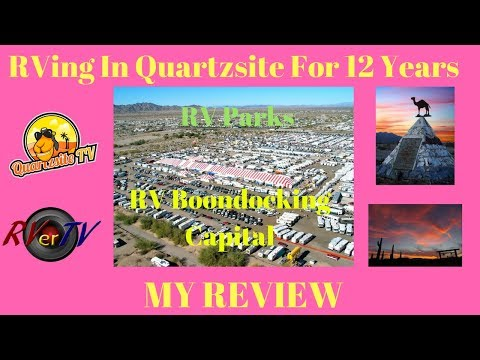 RVing In Quartzsite For The Last 12 Years ❤️ Review RV Travel..Snowbirds...RV Boondocking...RV Wifi