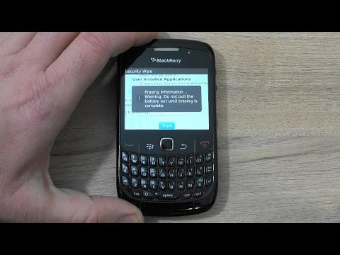 BlackBerry Curve 8520 hard reset