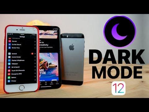Get True Dark Mode on any iPhone iOS 12