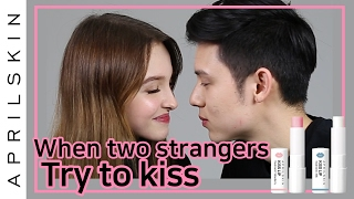 When two strangers try to kiss with KISS Lip Treatment | APRILSKIN GLOBAL