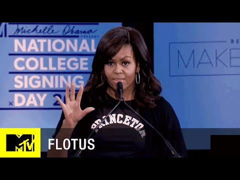 First Lady Michelle Obama at National College Signing Day   MTV