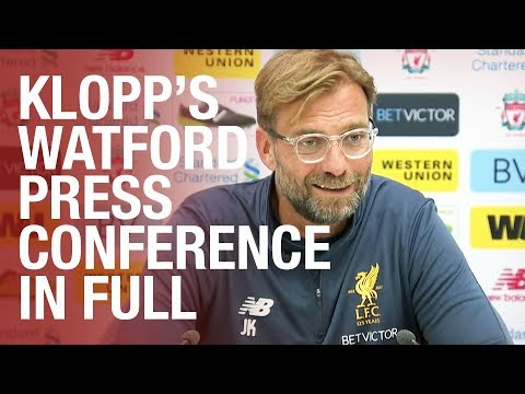 Jürgen Klopp's pre-Watford press conference in full   Coutinho update, transfers and more