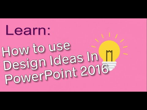 how to use design ideas in powerpoint 2016 youtube
