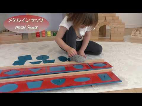 モンテッソーリ メタルインセッツ 知育玩具 Montessori Metal Insets