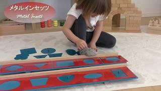 子供は3歳2ヶ月です。 モンテッソーリの教具、『 メタルインセッツ』...