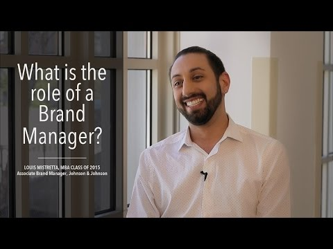 Role of a Brand Manager, Louis Mistretta, MBA Class of 2015, Associate Brand Manager, J&J