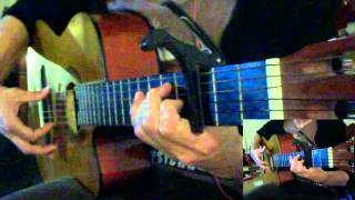 Tamally Ma3ak ClassicGuitar Cover for Amro Diab Solo, Chords, lesson