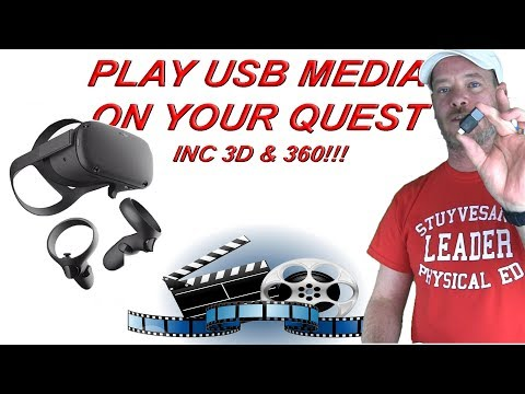 Oculus Quest USB OTG - Play media from a thumb drive!