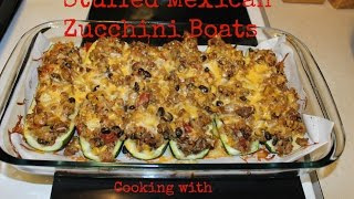 Cooking With Tea: Stuffed Zucchini Boats