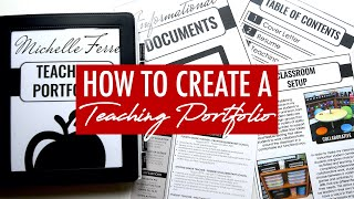 How to Create a Teaching Portfolio (Physical AND Digital Versions)