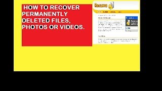HOW TO RECOVER DELETED FILES, PHOTOS, VIDEOS IF T`S DELETED FROM RECYCLE FILE TOO
