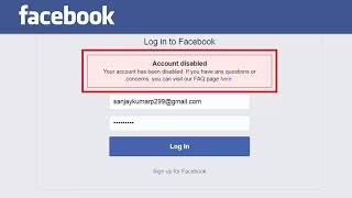 How To Enable/Recover Disabled Facebook Account Within 2 Hours ! 2017