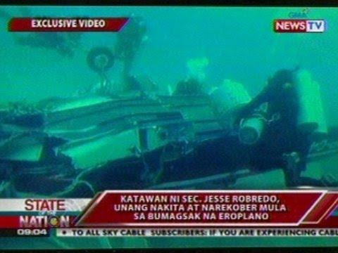 SONA: EXCLUSIVE: Katawan ni Sec. Robredo, unang nakita at narekober mula sa bumagsak na eroplano