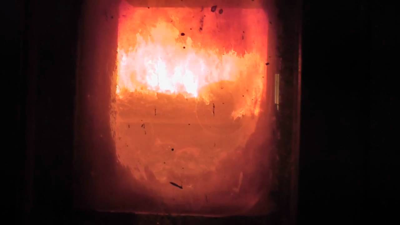 Short peep inside a active garbage incinerator. - YouTube