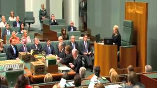 Bronwyn Bishop drops series of farts in speakers chair