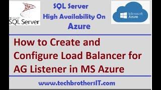 Erstellen und Konfigurieren von Lastenausgleich für den AG Zuhörer in MS-Azure - SQL-Server HA auf Azure